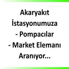 Pompacı ve market elemanı