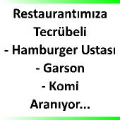 Hamburger ustası, garson, komi