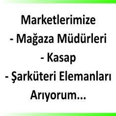 Market elemanı ilanları