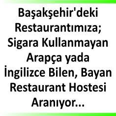 Arapça veya ingilizce bilen bayan restaurant hostesi