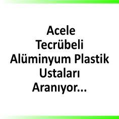 Alüminyum doğrama ustaları